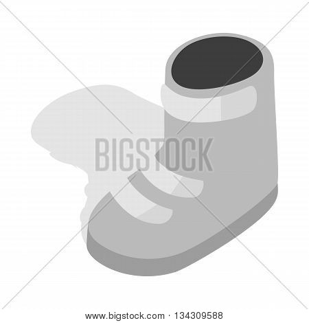 Snowboard boots icon in isometric 3d style on a white background