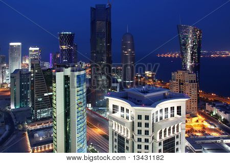 West Bay Area in Doha / Qatar