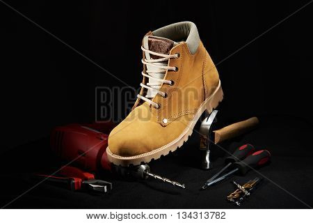 Work Shoe On Tools