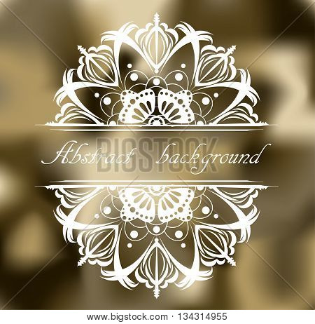 Abstract khaki background with pattern. Illustration 10 version.