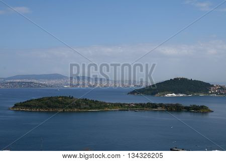 Prince Islands in Marmara Sea, İstanbul, Turkey.