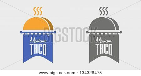 Mexican Taco Logo Vector Concept Illustration. Can Be Used To Design Menu, Business Cards, Posters.