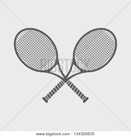 Simple Icon With Two Tennis Racket On A Theme Of Great Tennis.