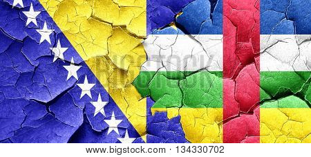 Bosnia and Herzegovina flag with Central African Republic flag o