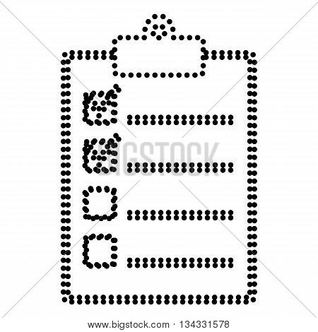 Checklist sign illustration. Dot style or bullet style icon on white.