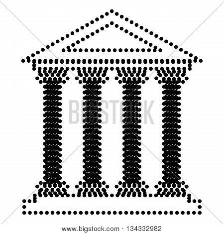 Historical building illustration. Dot style or bullet style icon on white.