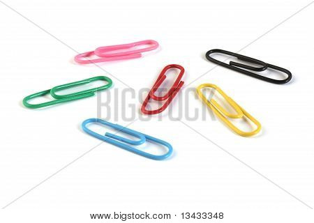 Paper Clips In Different Colors