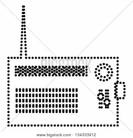 Radio sign illustration. Dot style or bullet style icon on white.