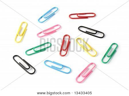 Paper Clips In Many Colors