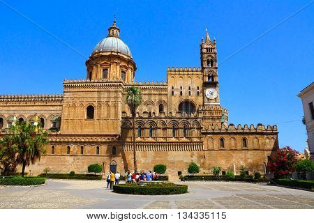 Ornate Architecture Of Palermo Cathedral, Sicily, Italy