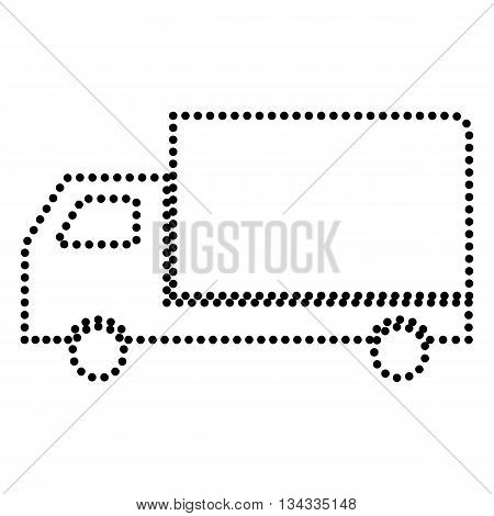 Delivery sign illustration. Dot style or bullet style icon on white.