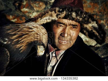 Mongolian Man with Traditional Lifestyles Concept