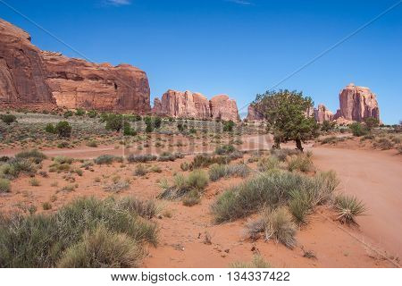Inside Of Monument Valley In Navajo Nation Reservation Between Utah And  Arizona
