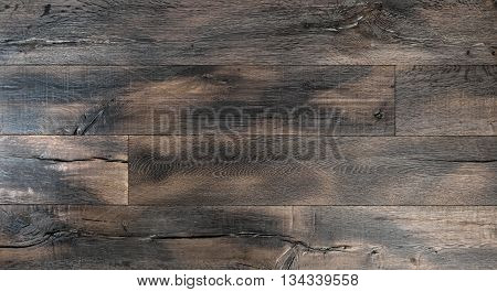 Wooden background. Tack texture. Abstract dark wood rustic surface