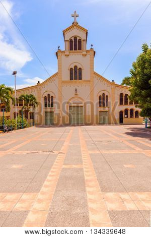 Iglesia la Merced the catholic church in Salinas Ecuador.