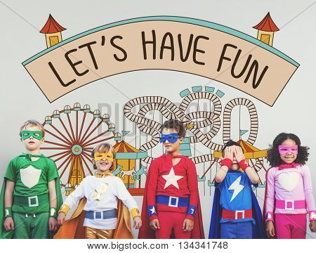 Let's Have Fun Children Kids Graphic Concept