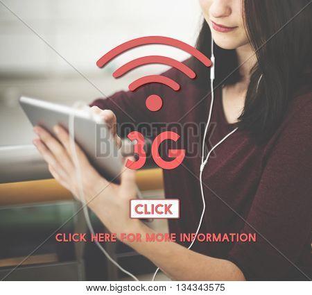3G Wireless Internet Networking Online Concept