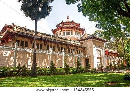 SAI GON, VIET NAM, April 30, 2016 the building, historical museum, downtown Sai Gon, Vietnam