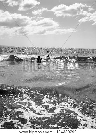 Black and White Photography, Ocean and sky, Maui Beaches