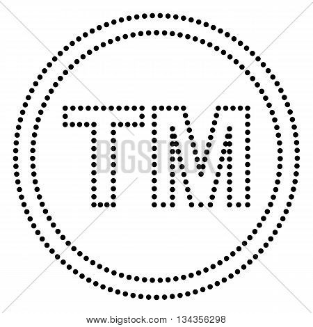 Trade mark sign. Dot style or bullet style icon on white.
