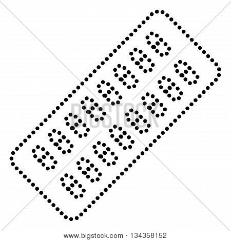 Medical Pills sign. Dot style or bullet style icon on white.