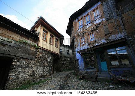Old ottoman Cumalikizik village in Bursa, Turkey.