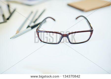Eyewear on desk