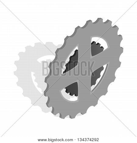 Bike chain star icon in isometric 3d style on a white background