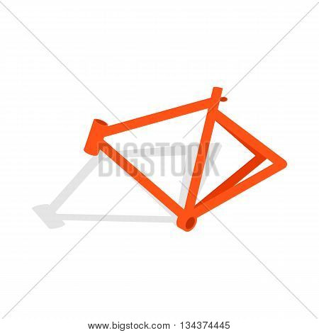 Bicycle frame icon in isometric 3d style on a white background
