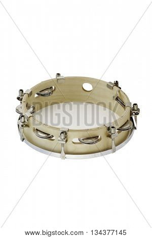 The image of tambourine under the white background