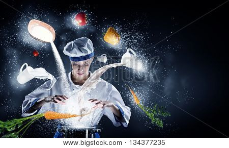 She is magician as cook