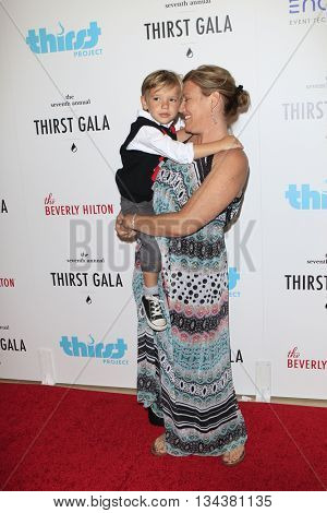 LOS ANGELES - JUN 13:  Melissa Disney, son Ryder at the 7th Annual Thirst Gala at the Beverly Hilton Hotel on June 13, 2016 in Beverly Hills, CA