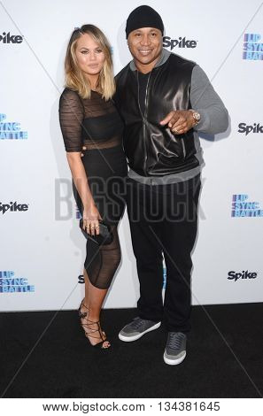 LOS ANGELES - JUN 14:  Chrissy Teigen, LL Cool J, James Todd Smith at the Lip Sync Battle FYC Event at the Saban Media Center on June 14, 2016 in North Hollywood, CA