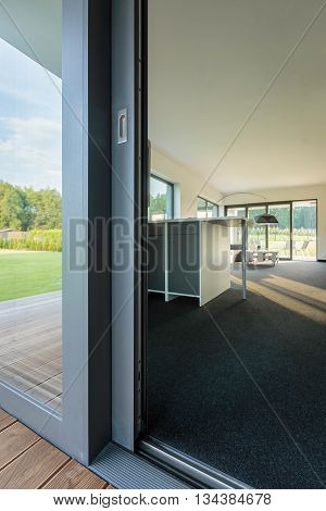 Entrance To Beautiful And Modern House