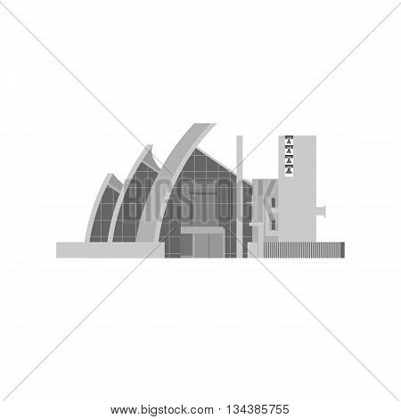 The Jubilee Church in Rome flat design. Vector illustration. Modern religious architecture symbol.