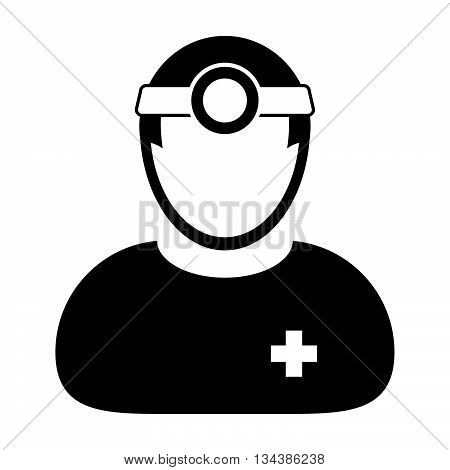 Doctor Icon - Physician, Medical, Healthcare Icon in Glyph Vector illustration