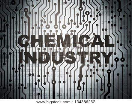Industry concept: circuit board with  word Chemical Industry, 3D rendering