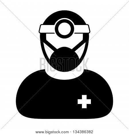 Doctor Icon - Physician, Medical, Healthcare, Surgeon Icon in Glyph Vector illustration