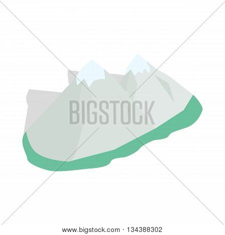 Swiss alps icon in isometric 3d style on a white background