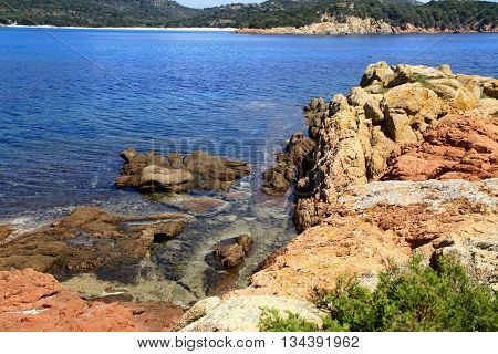 BEACH  OF SOUTHERN CORSICA, FRANCE ,   .
