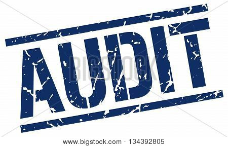 Audit Stamp. Vector. Stamp. Sign. Audit. Blue.