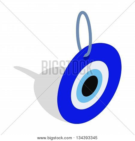 Evil eye, Turkish amulet icon in isometric 3d style on a white background