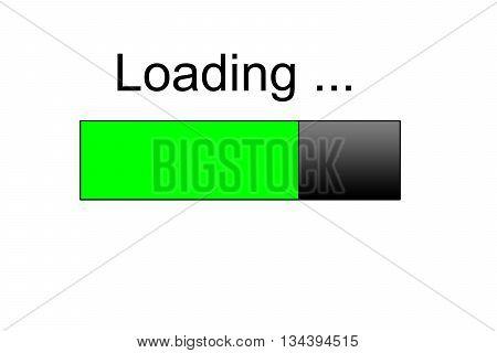 Loading bar icon , green loading bar