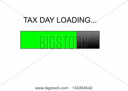 tax day loading Progress bar design, green loading bar