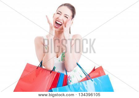 Shopaholic Pretty Woman Screaming Or Yelling