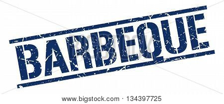 Barbeque Stamp. Vector. Stamp. Sign. Barbeque. Blue.
