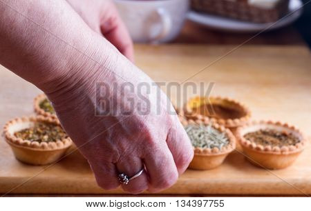 Spices In Bowls On Table