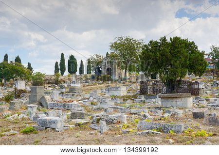 The ancient Jewish cemetery in the city of Sevastopol