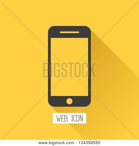 smartphone flat  icon,vector
