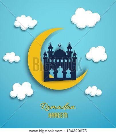 Ramadan Kareem greeting design card